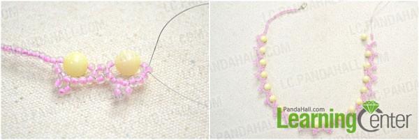 Make the two right angel weave stitch patterns alternately