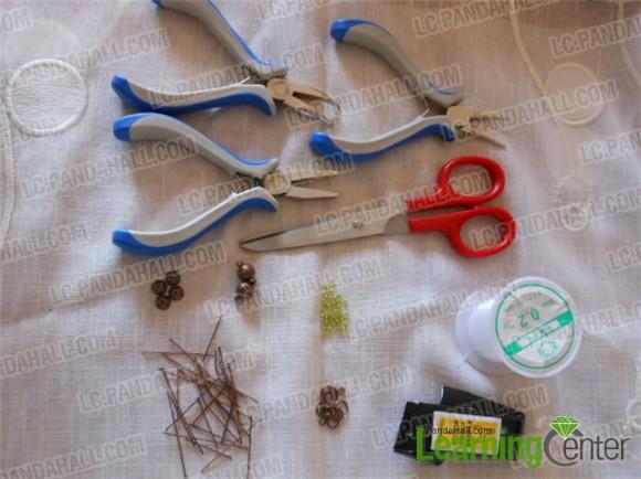 Materials for braiding 3-strand woven bead bracelet