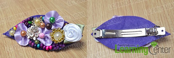 attach all beads and hair barrette