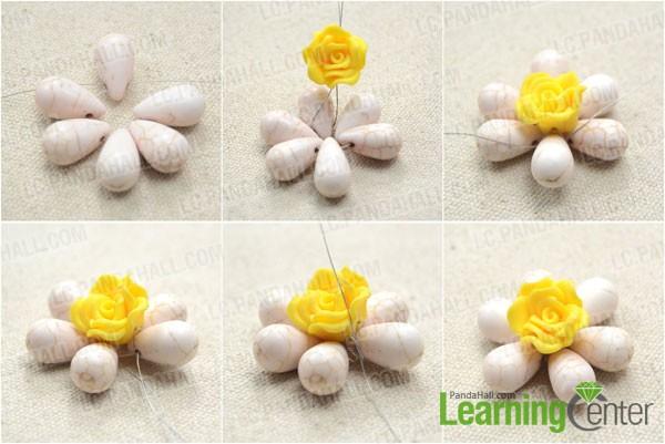 Make the easy beaded flower