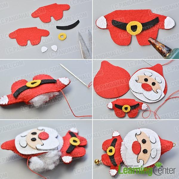 Complete the felt Santa Claus