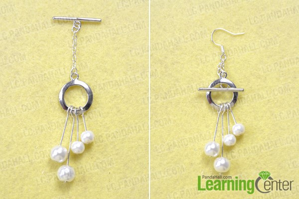 Finish making your own silver and pearl earring jewelry