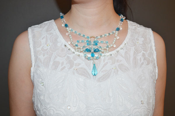How to Make a Beaded Butterfly Charm Statement Necklace final