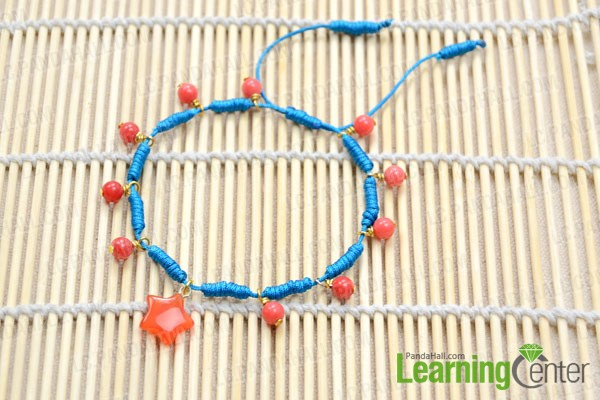 finished Chinese sliding knot bracelet