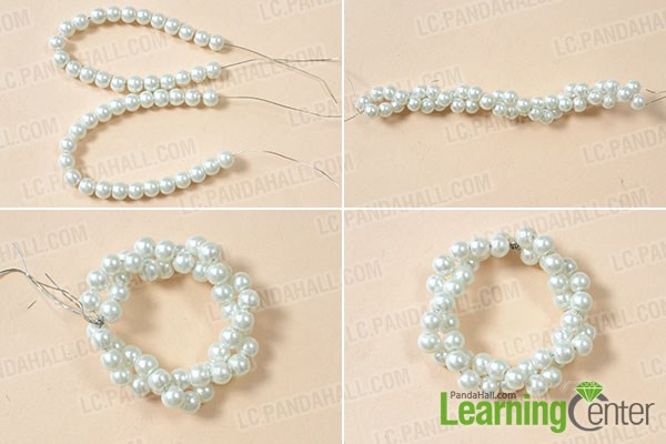 Braid a pearl circle