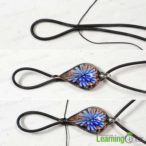 Attach lampwork bead