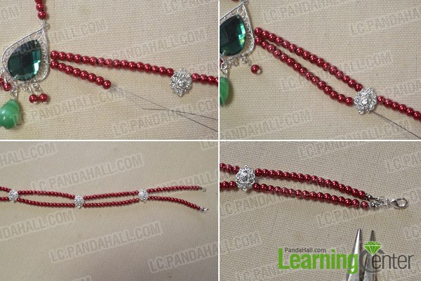 How to Make a Charming Red Beaded Chain Headpiece Jewelry for a Party