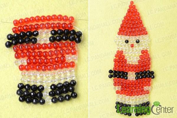 Finish integrate beaded Santa Claus pattern