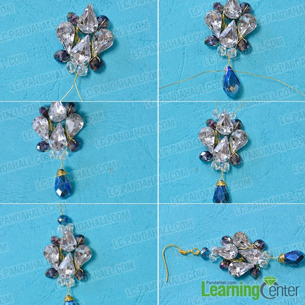 make the third part of the acrylic bead drop earrings