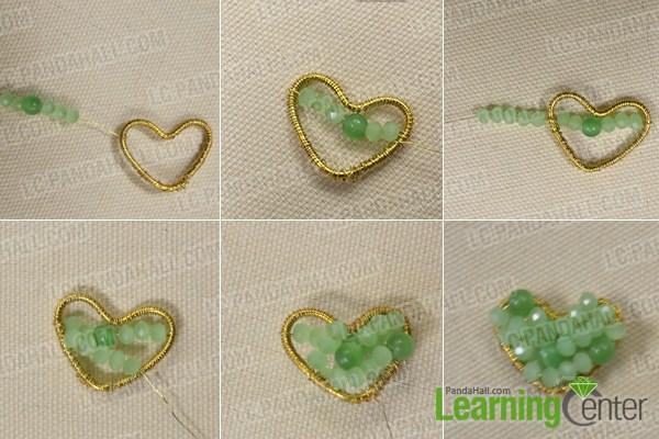 How to Make a Beaded Heart Shaped Pendant Necklace- Pandahall.com