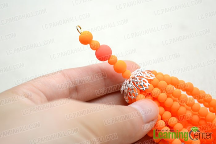 add more beads and make a simple loop at the end