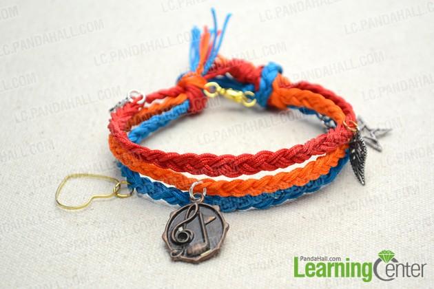 finished multi strand friendship bracelet