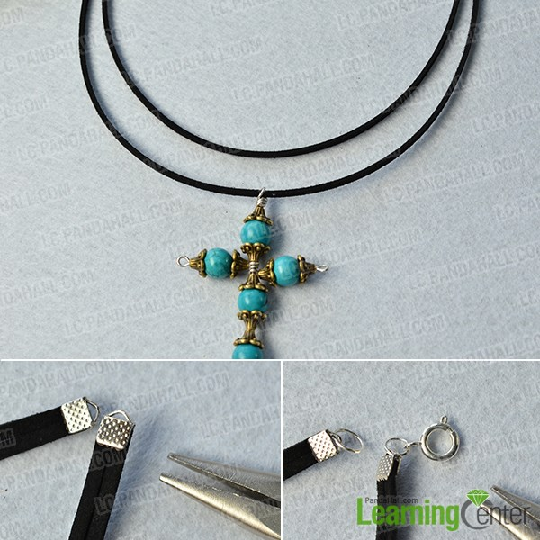 Complete the turquoise cross pendant necklace