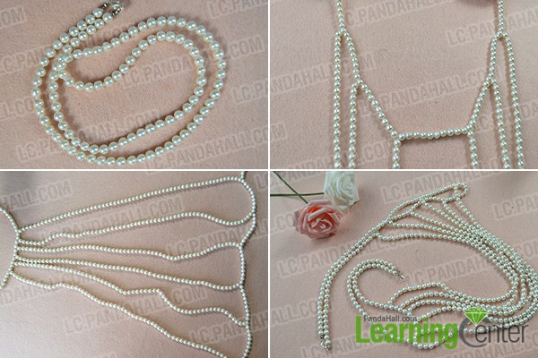 How to Make Fashion White Pearl Body Necklace Jewelry 4