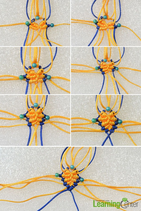 make the third part of the yellow woven fish ornament