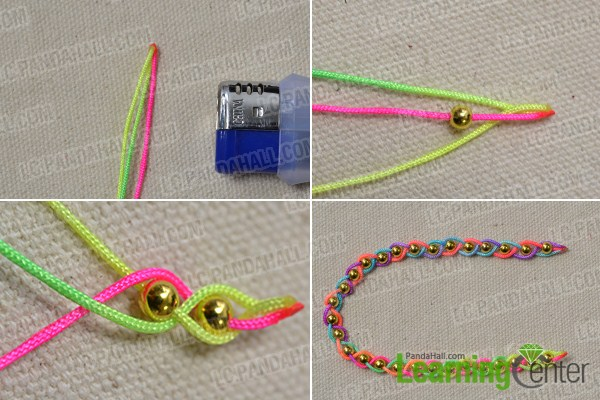Make the first beaded strand