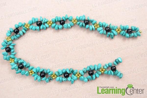 finish beautiful turquoise necklace