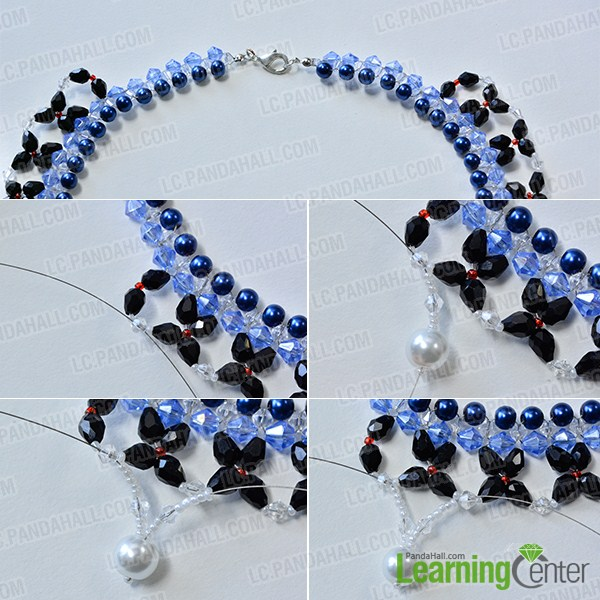 make the rest part of the blue and black collar necklace