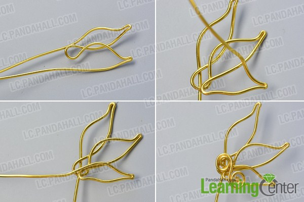 make the first part of the golden wire wrapped ear cuff