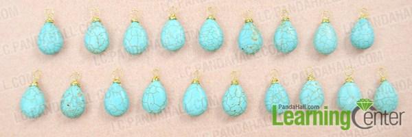 Make basic turquoise choker necklace