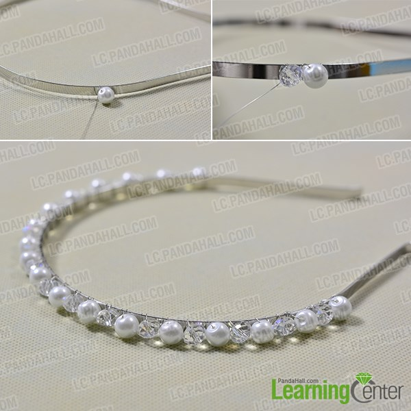 Instructions on How to Make Girl s Beaded Hair Bands with Drop Glass ... c33075ab85c