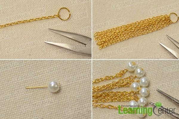 Make gold chain tassels