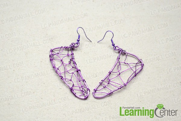 Finally the dragonfly wing earrings are done: