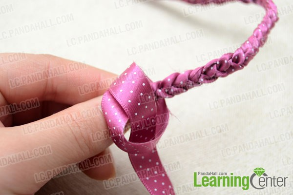 Tie an overhand knot at end