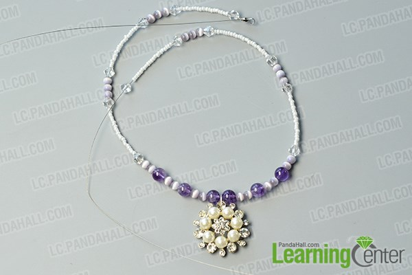 Complete the first strand of the necklace