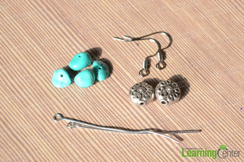 materials for making the turquoise earrings
