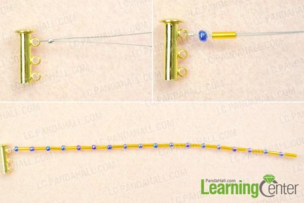 instruction on making bugle bead bracelet