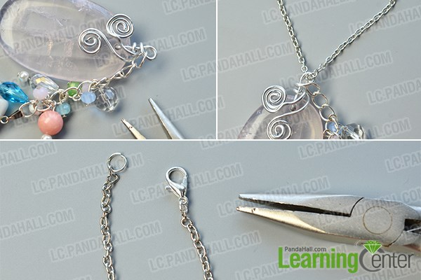 finish this original mix beaded pendant chain necklace