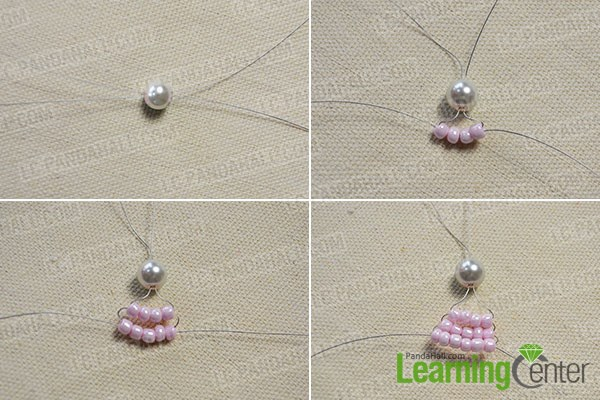 How to Make Your Own Stitch Pink Beaded Hair Bows Tutorial 1