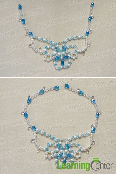 How to Make a Beaded Butterfly Charm Statement Necklace 7