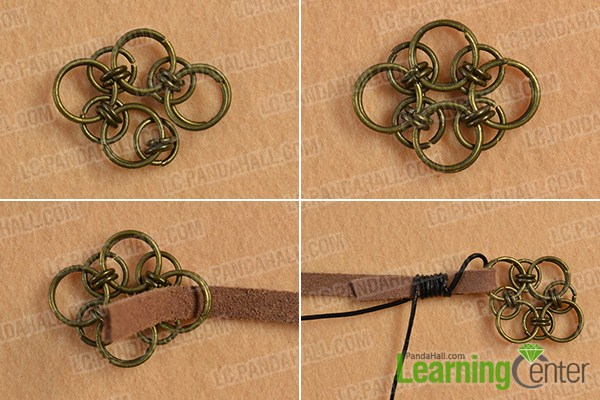 make the third part of the chocolate suede cord bracelet