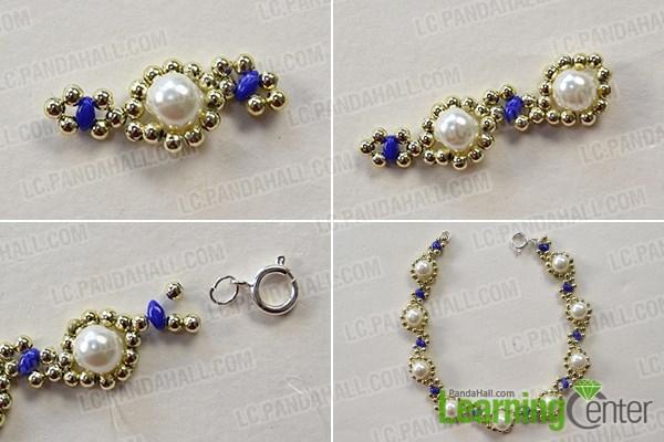 Finish the gold flower bracelet