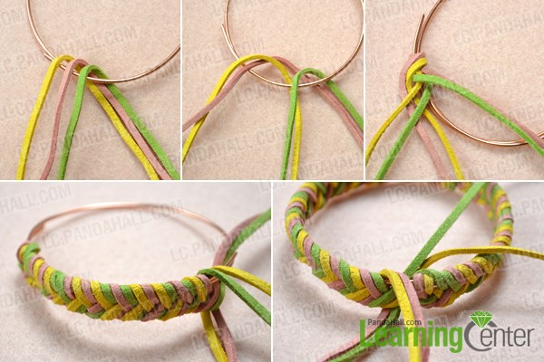 Start to make the single braided bracelet