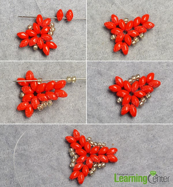 Add more beads to the basic bead pattern