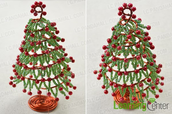 Make the leaves of wire Christmas tree ornaments
