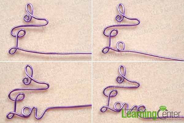 Wrap the love letter for the DIY personalized necklace