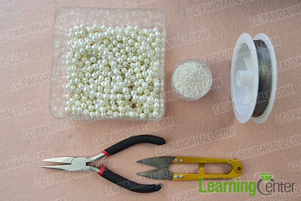How to Make Fashion White Pearl Body Necklace Jewelry materials