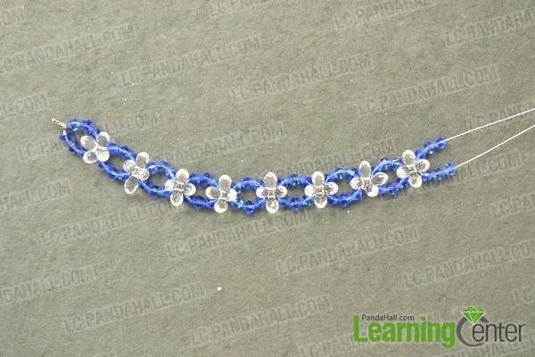 finished the sapphire lotus flower pendant for crstal necklace