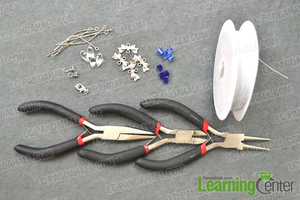 Materials needed in making lotus flower necklaces