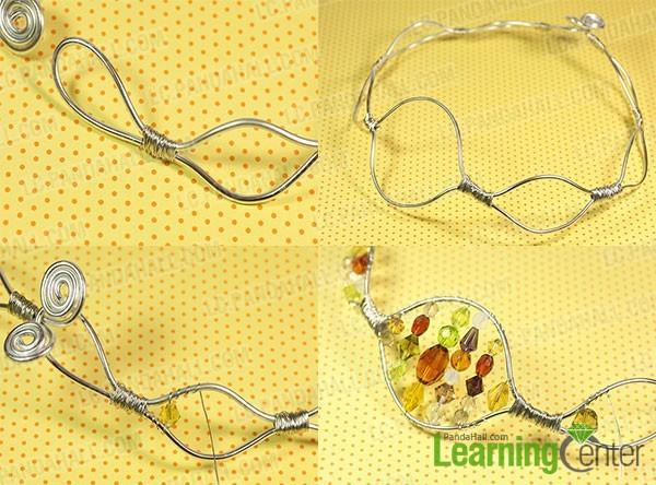 twist wire and add glass beads