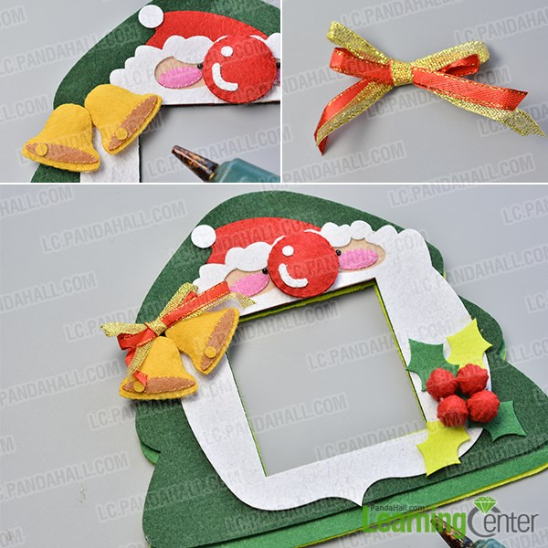 Make the sixth part of the easy felt Christmas hanging decoration
