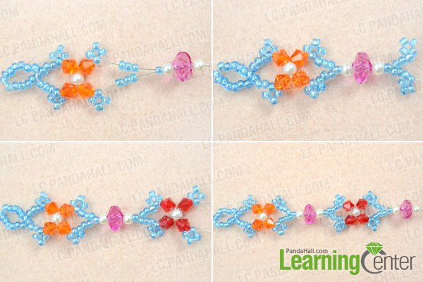 Make basic beaded butterfly necklace