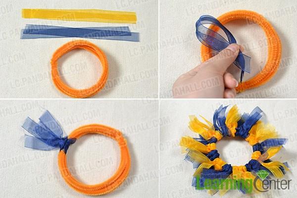 Make the ribbon circle part