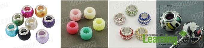 Rondelle acrylic European beads