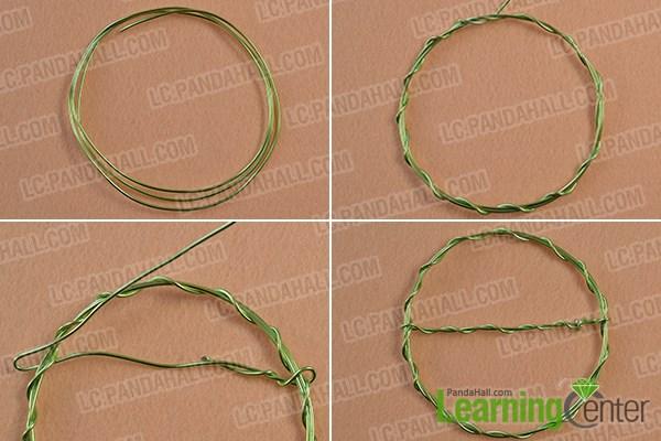 Wrap an aluminum wire hoop