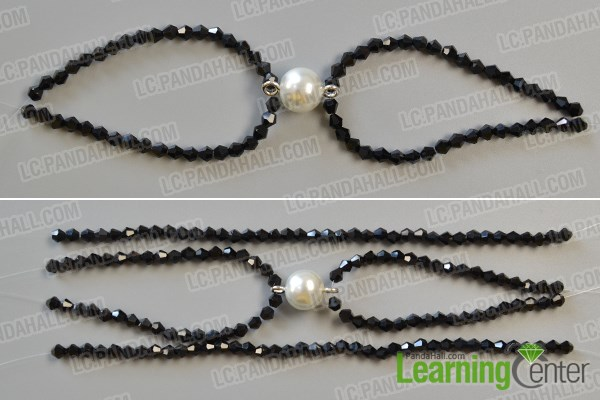 make the second part of the chic white pearl bead bracelet